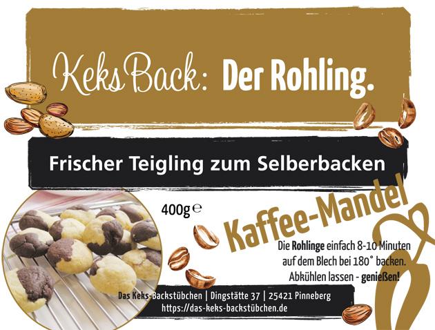 Keks-Rohling Kaffee-Mandel