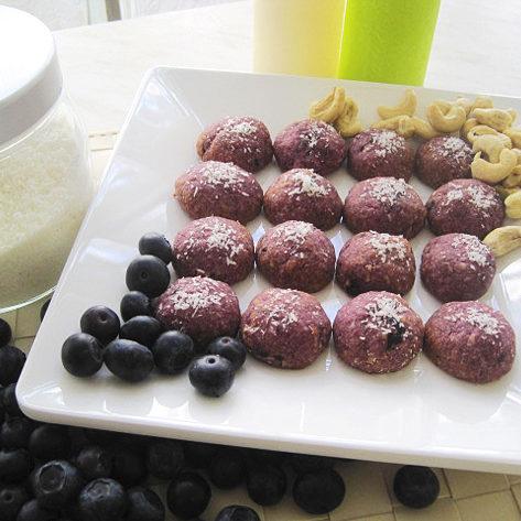 Blaubeer Keks mit Kokosöl
